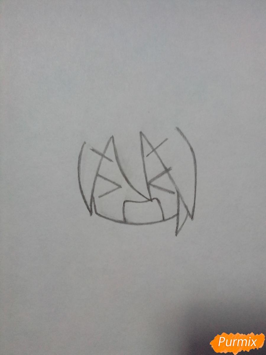 Рисуем сердитую мику в стиле чиби - шаг 1