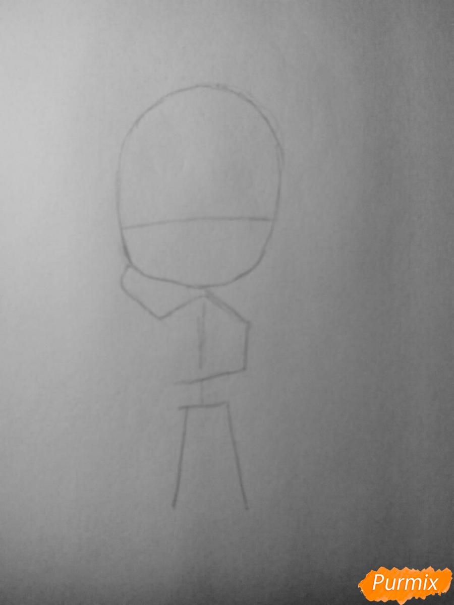 Рисуем Шу Сакамаки в стиле чиби - шаг 1