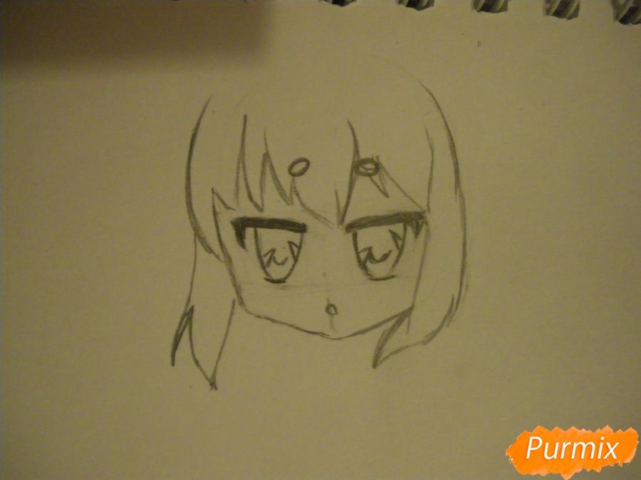 Рисуем сонную чиби девочку с подушками - шаг 3