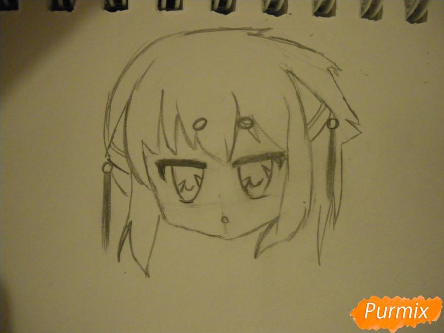 Рисуем сонную чиби девочку с подушками - шаг 4