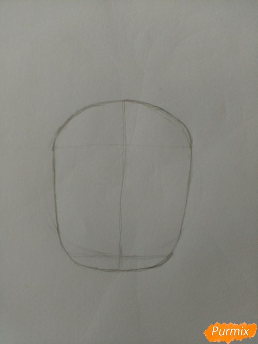 Рисуем Суирен в стиле чиби из манги каждый день бабочки - шаг 1