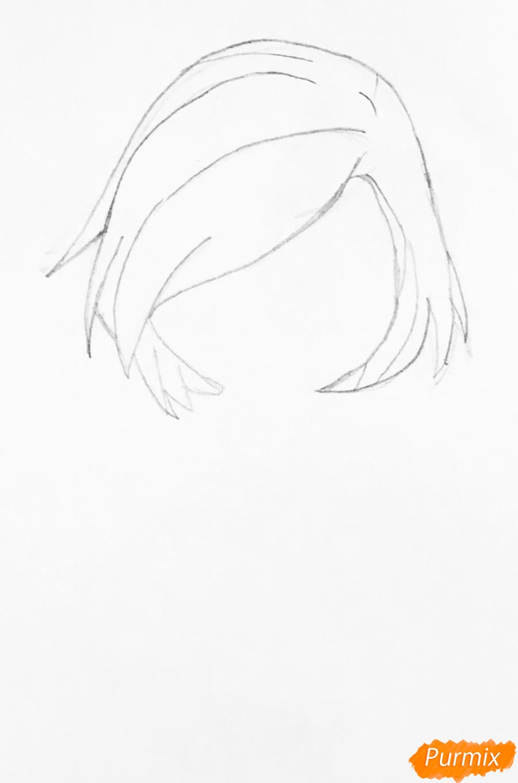 Рисуем Торалей Страйп в стиле чиби - шаг 1