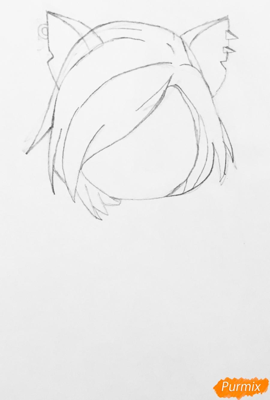Рисуем Торалей Страйп в стиле чиби - шаг 2