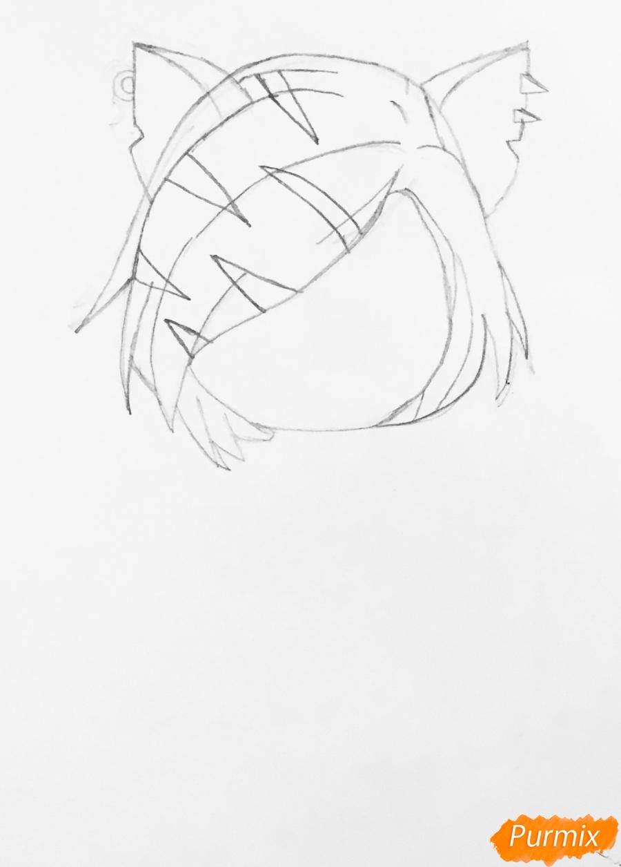 Рисуем Торалей Страйп в стиле чиби - шаг 3