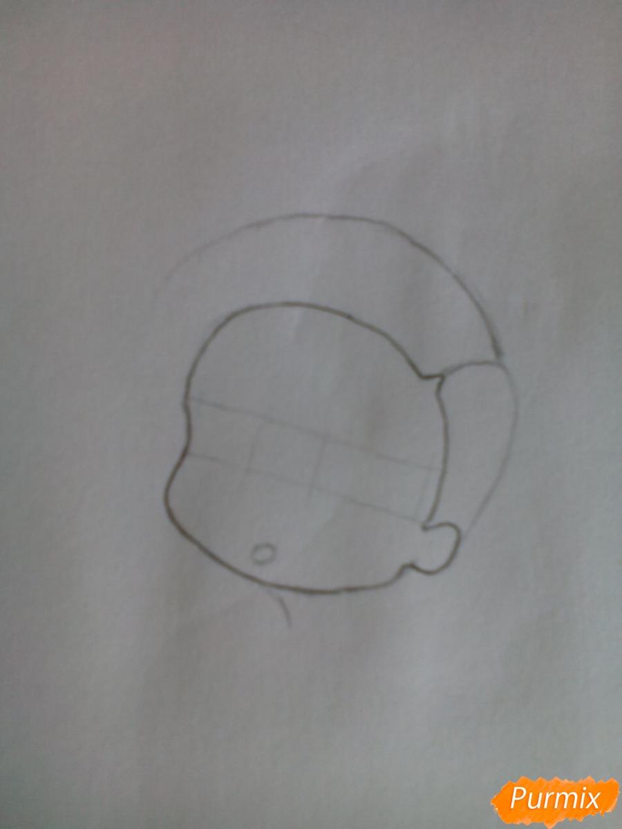 Рисуем Уту в стиле чиби из аниме Токийский гуль карандашами - шаг 2