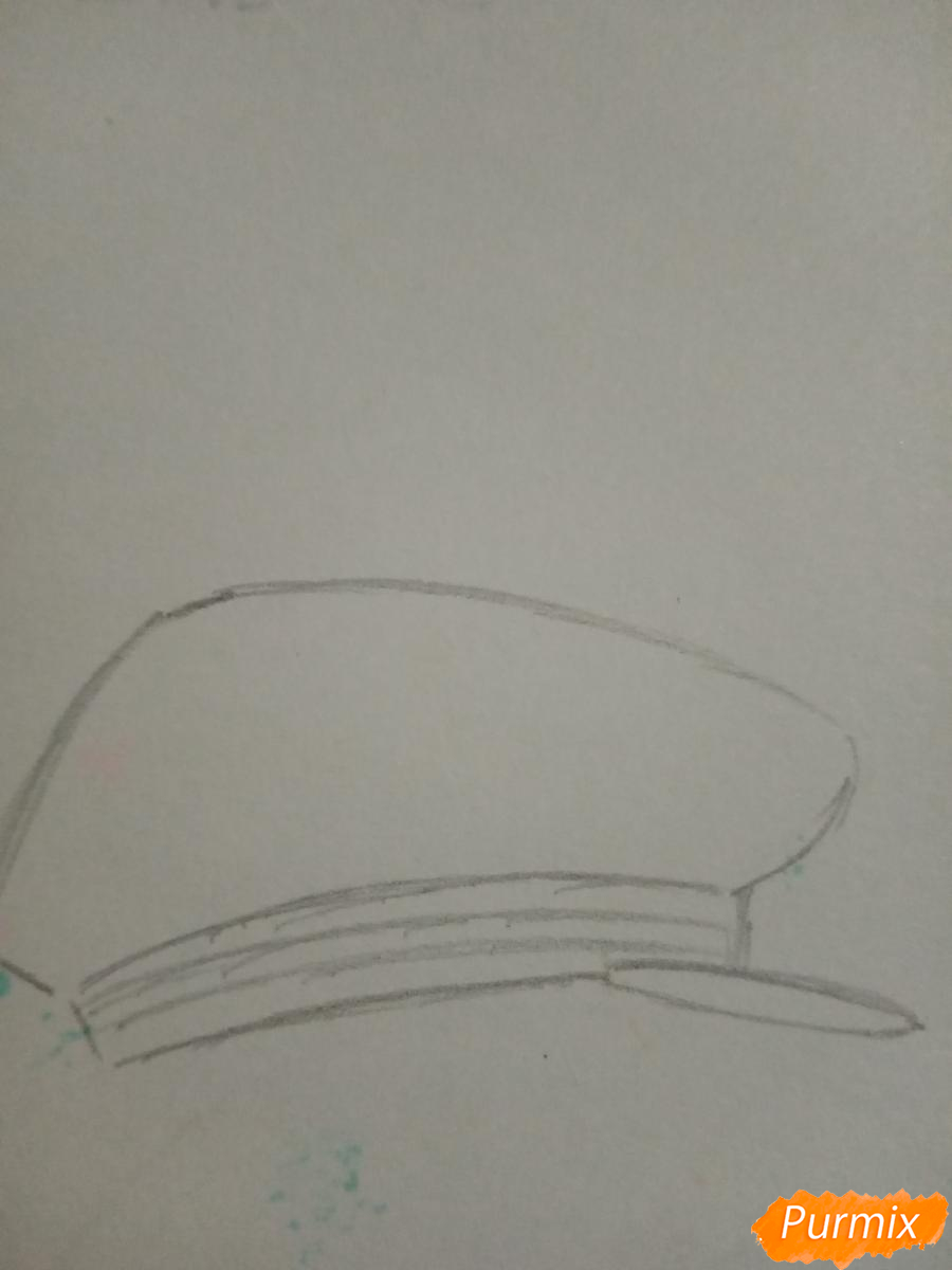Рисуем вокалоида Оливера в стиле чиби карандашами - шаг 1