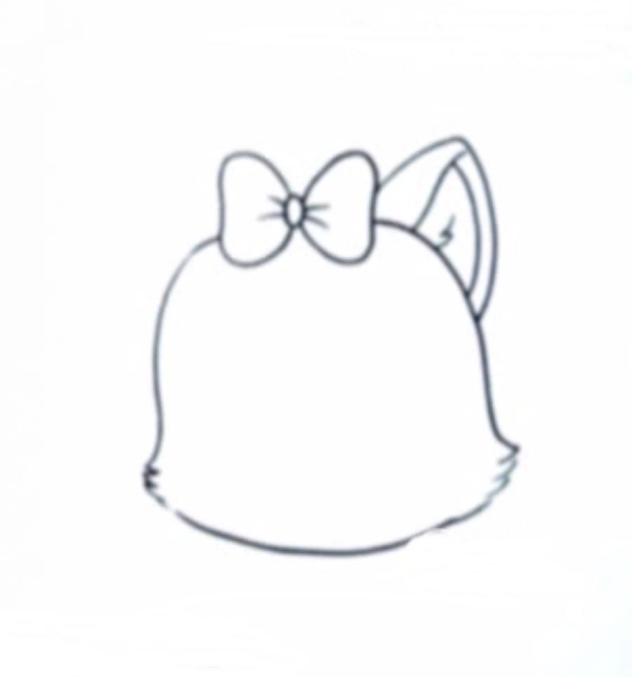 Как нариосвтаь голову котенка в стиле чиби - шаг 2