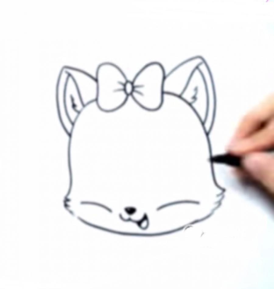 Как нариосвтаь голову котенка в стиле чиби - шаг 3
