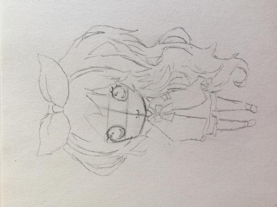 Рисуем чиби - девочку с бантиком - шаг 4