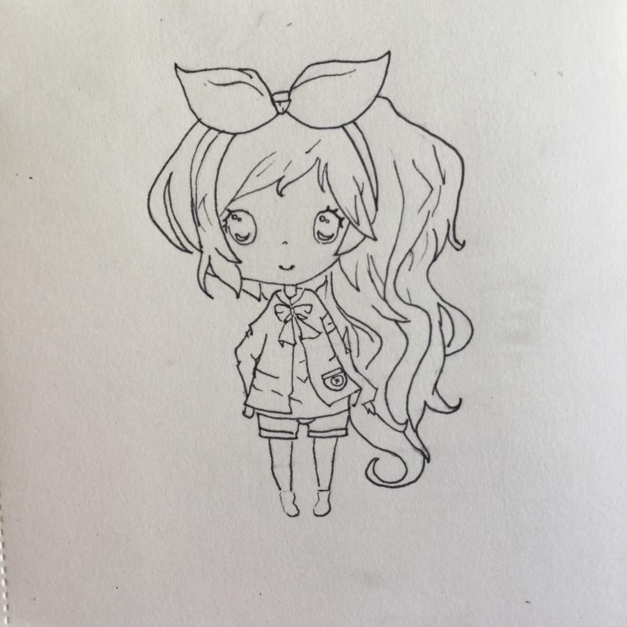 Рисуем чиби - девочку с бантиком - шаг 5
