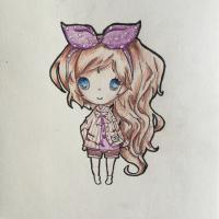 чиби - девочек с бантиком