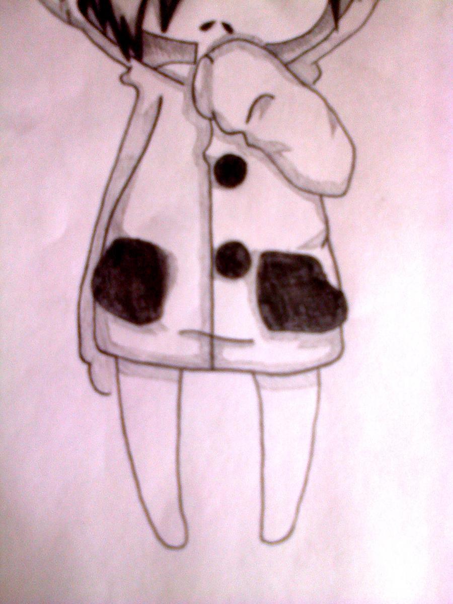 Рисуем чиби-девочку в костюме панды простыми карандашами - шаг 10
