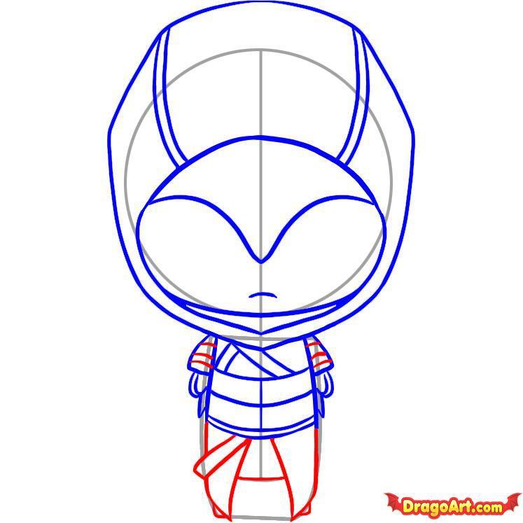 Рисуем чиби Альтаира из Assassins Creed - шаг 5