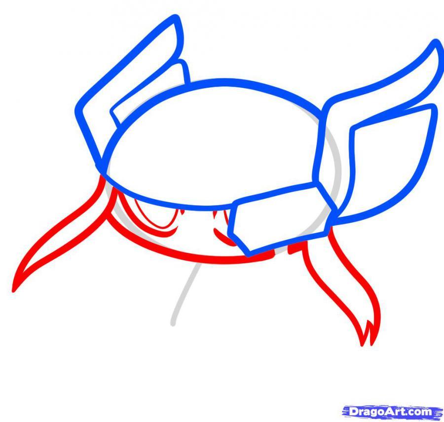 Рисуем чиби Тора - шаг 3