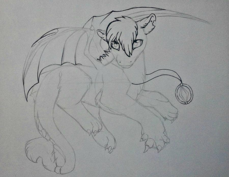 Рисуем дракона в стиле чиби карандашами и ручкой - шаг 10