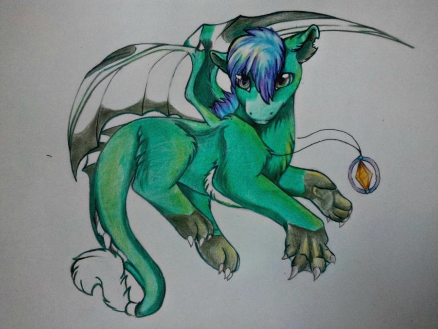 Рисуем дракона в стиле чиби карандашами и ручкой - шаг 15