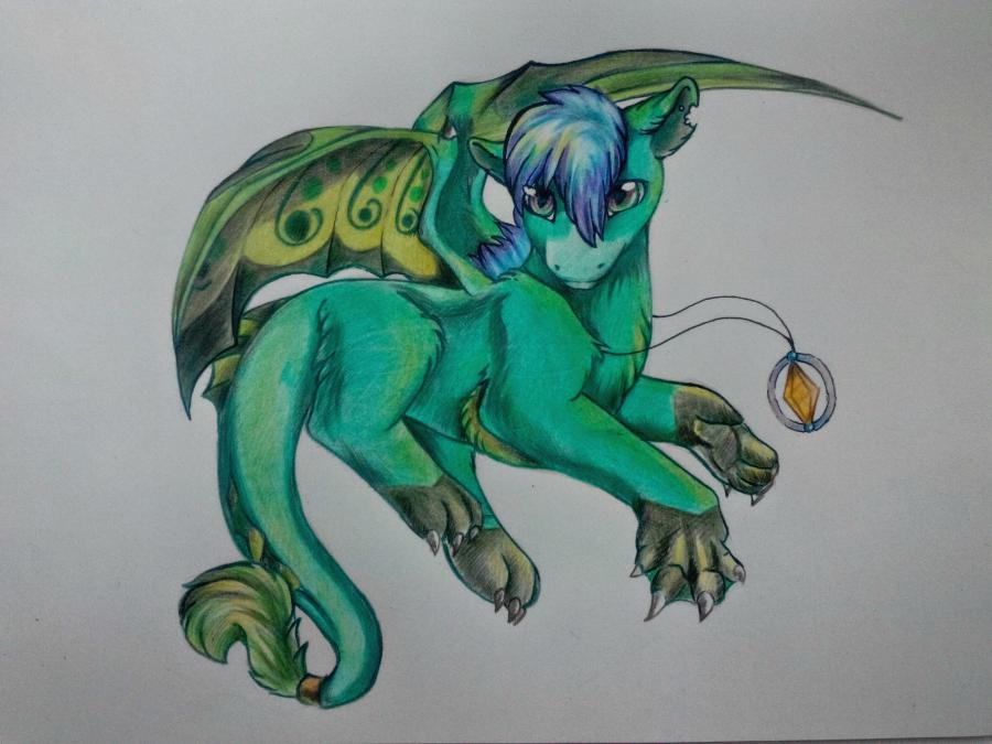 Рисуем дракона в стиле чиби карандашами и ручкой - шаг 16