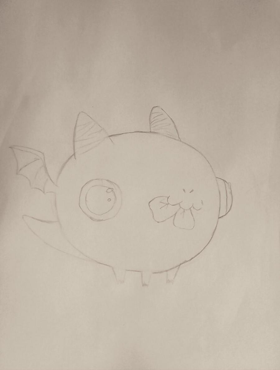 Рисуем дракончика с клевером - шаг 4
