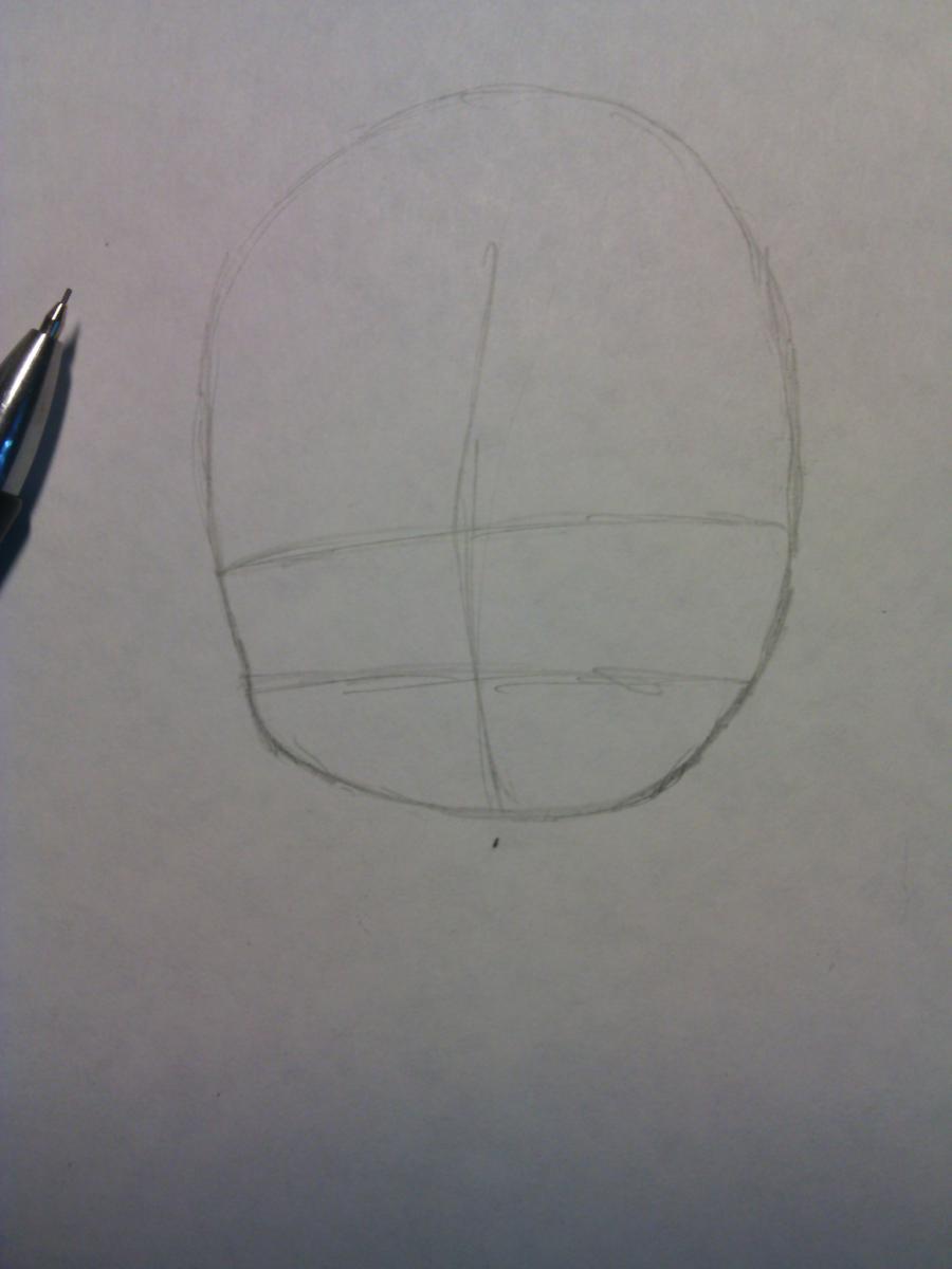 Рисуем и раскрасить Зерефа в стили Чиби - шаг 1