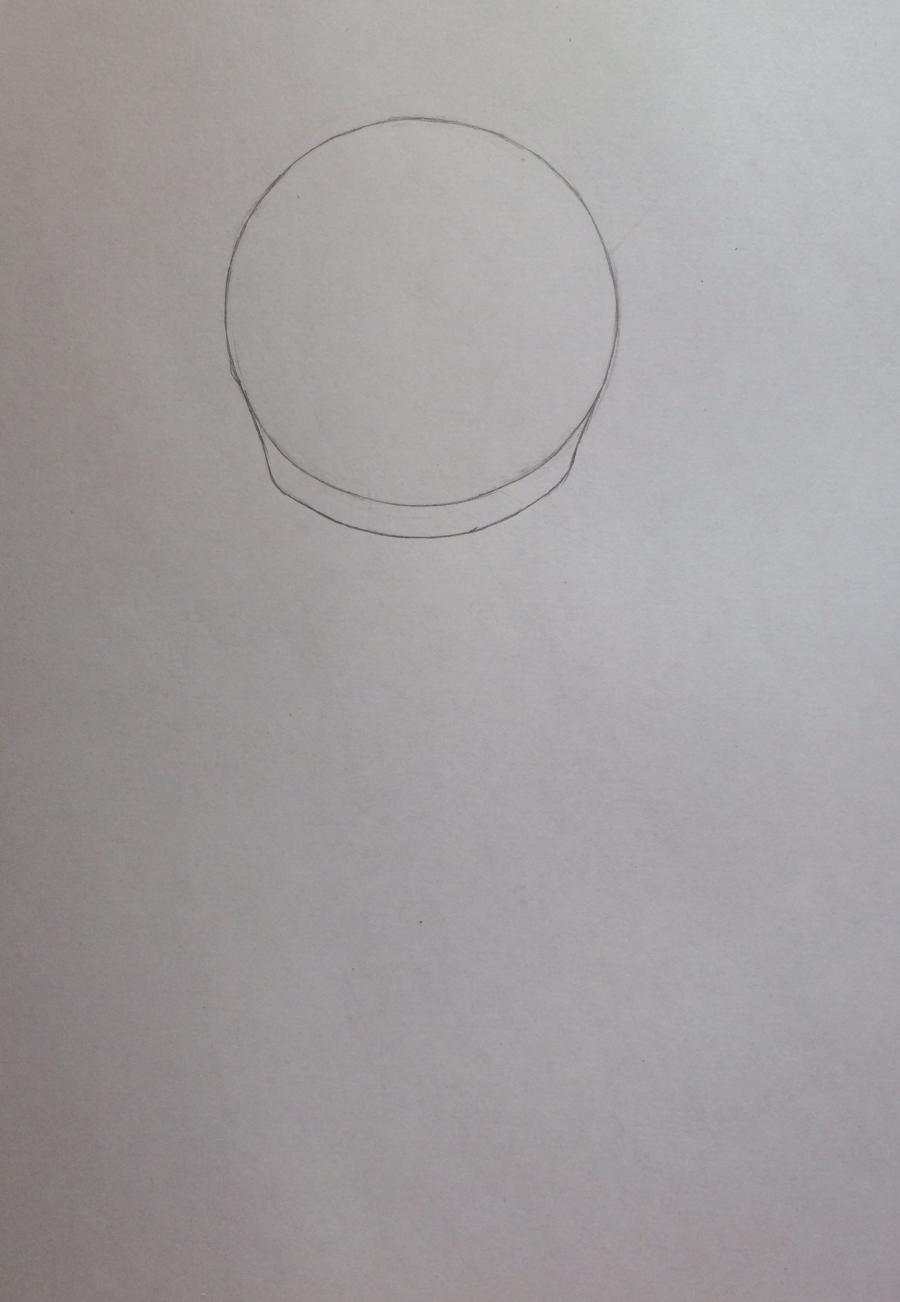 Рисуем и раскрасить девочку с котёнком в стиле чиби - шаг 2