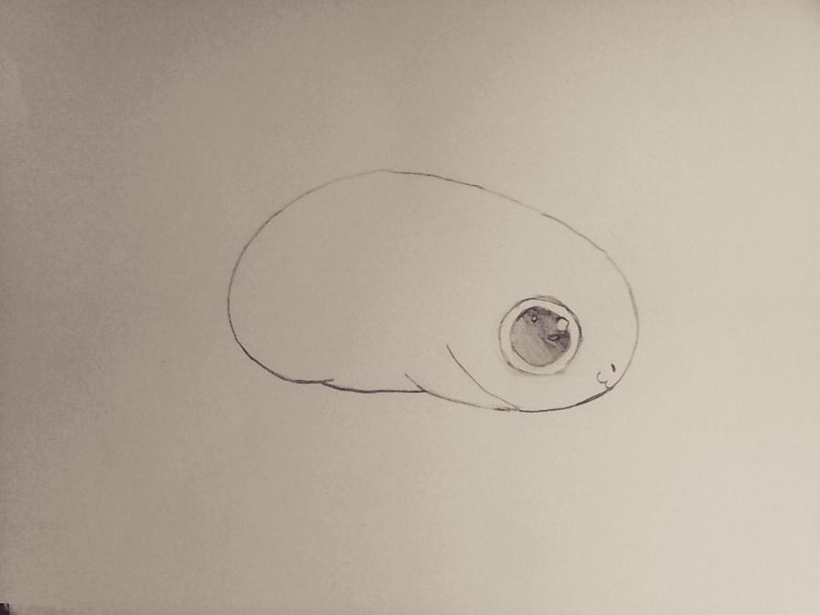 Рисуем маленького чиби дракончика - шаг 2