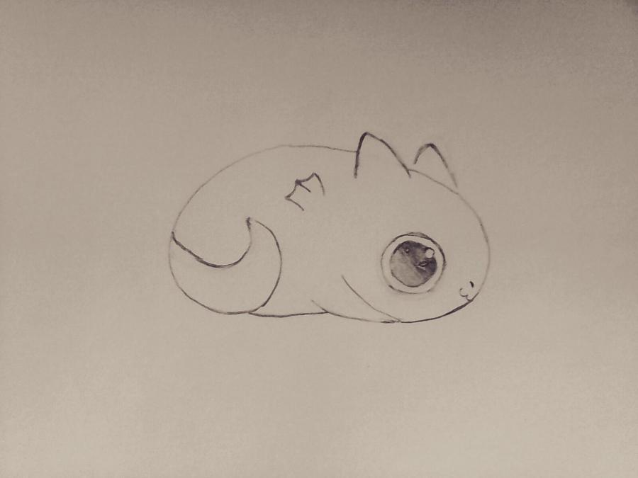 Рисуем маленького чиби дракончика - шаг 4