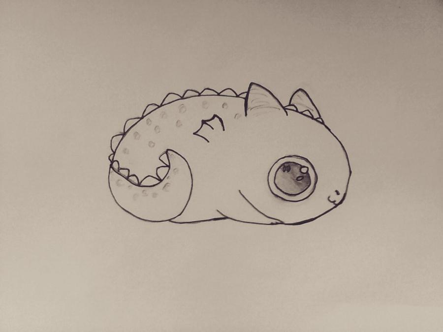 Рисуем маленького чиби дракончика - шаг 6
