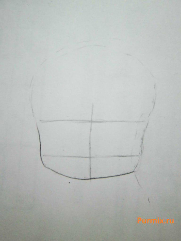 Рисуем неко в стиле чиби простым - шаг 1