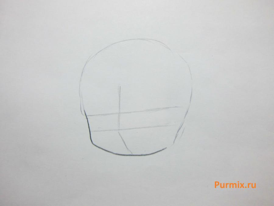 Как научиться рисовать красивого чиби ангела - шаг 1