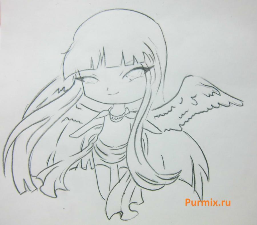 Как научиться рисовать красивого чиби ангела - шаг 5