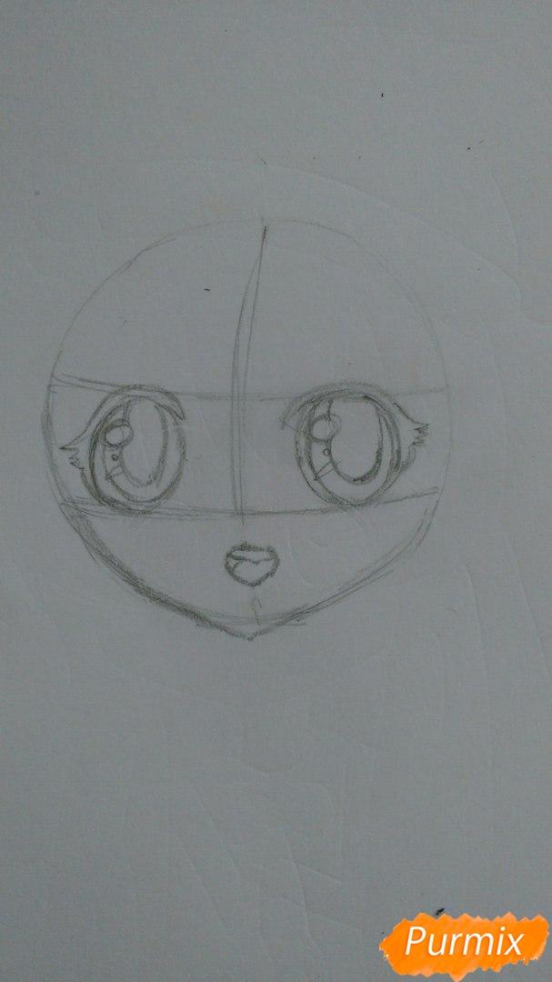 milaya-devochka-v-polnyj-rost-v-stile-chibi-2 Как нарисовать милую чиби девочку карандашом поэтапно