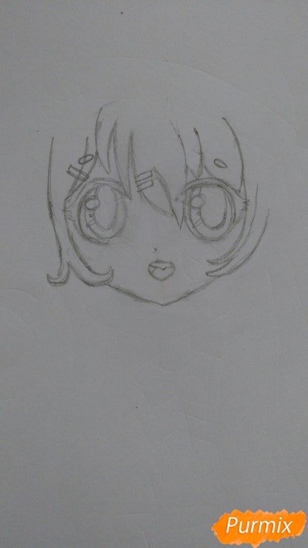milaya-devochka-v-polnyj-rost-v-stile-chibi-3 Как нарисовать милую чиби девочку карандашом поэтапно