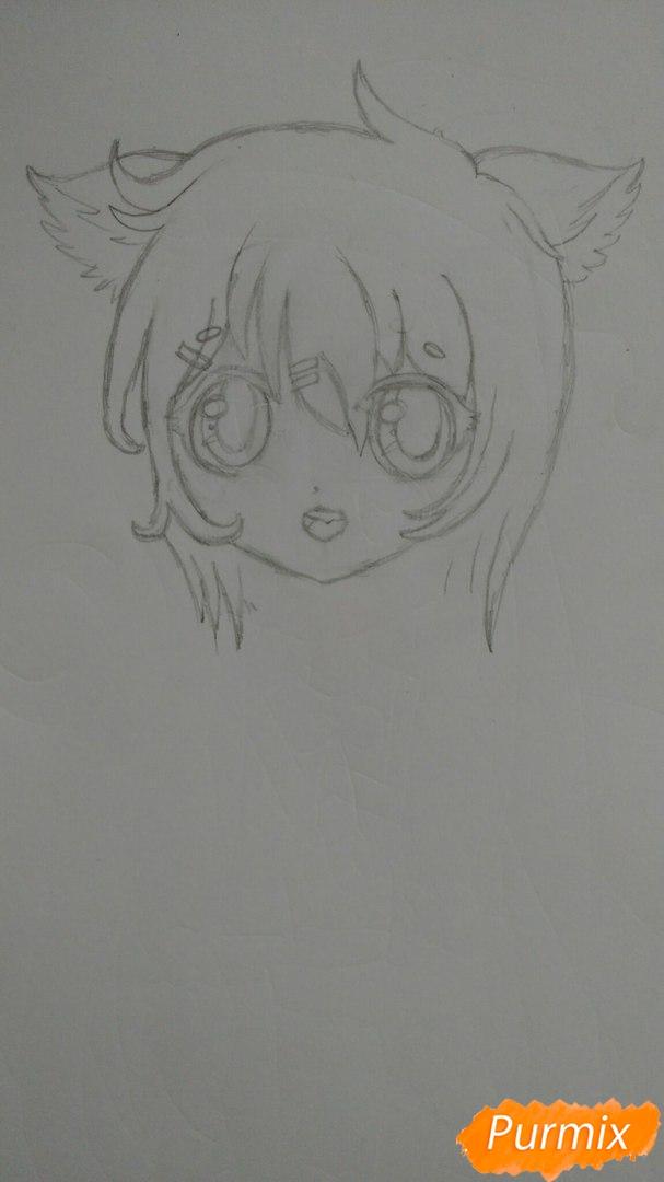 milaya-devochka-v-polnyj-rost-v-stile-chibi-4 Как нарисовать милую чиби девочку карандашом поэтапно