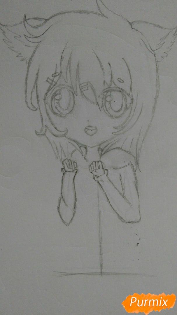 milaya-devochka-v-polnyj-rost-v-stile-chibi-6 Как нарисовать милую чиби девочку карандашом поэтапно