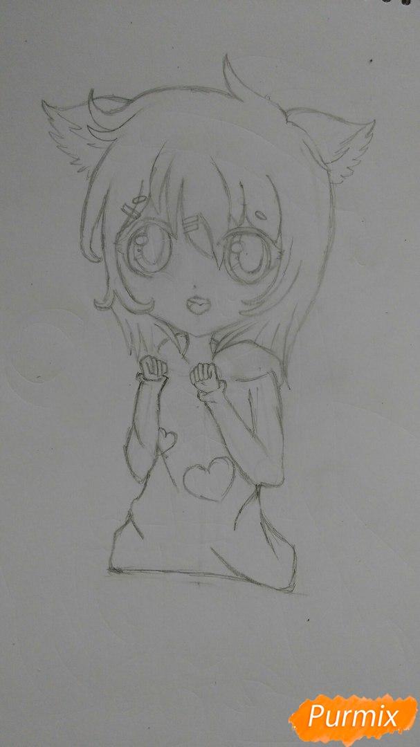 milaya-devochka-v-polnyj-rost-v-stile-chibi-7 Как нарисовать милую чиби девочку карандашом поэтапно