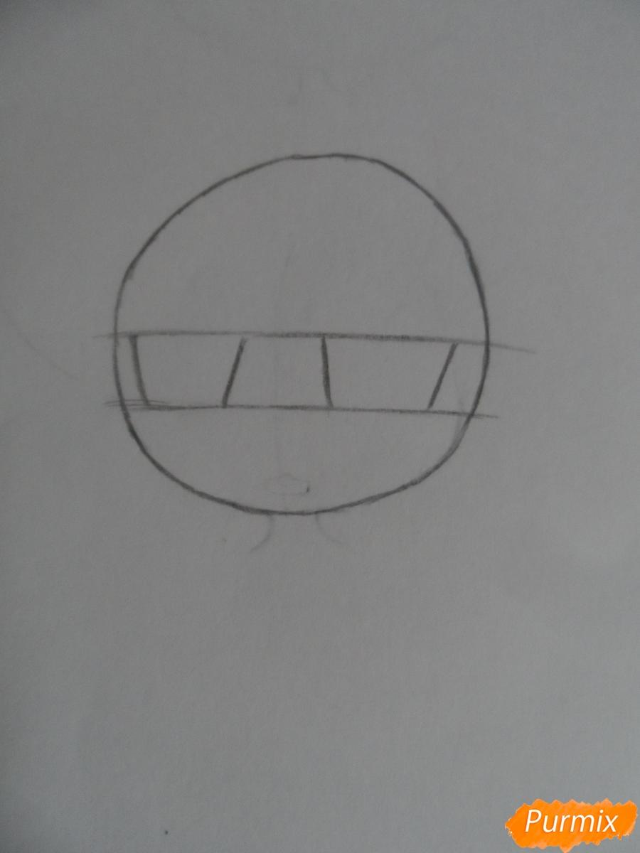 Учимся рисовать девочку Чиби в виде зайки - шаг 2