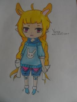 Учимся рисовать девочку Чиби в виде зайки