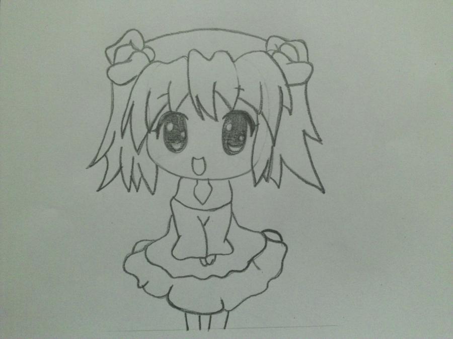 uchimsya_pojetapno_risovat_chibi_devochku_karandashom-4 Как нарисовать милую чиби девочку карандашом поэтапно
