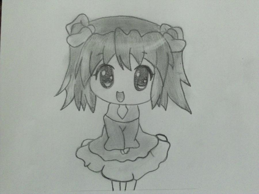 uchimsya_pojetapno_risovat_chibi_devochku_karandashom-6 Как нарисовать милую чиби девочку карандашом поэтапно
