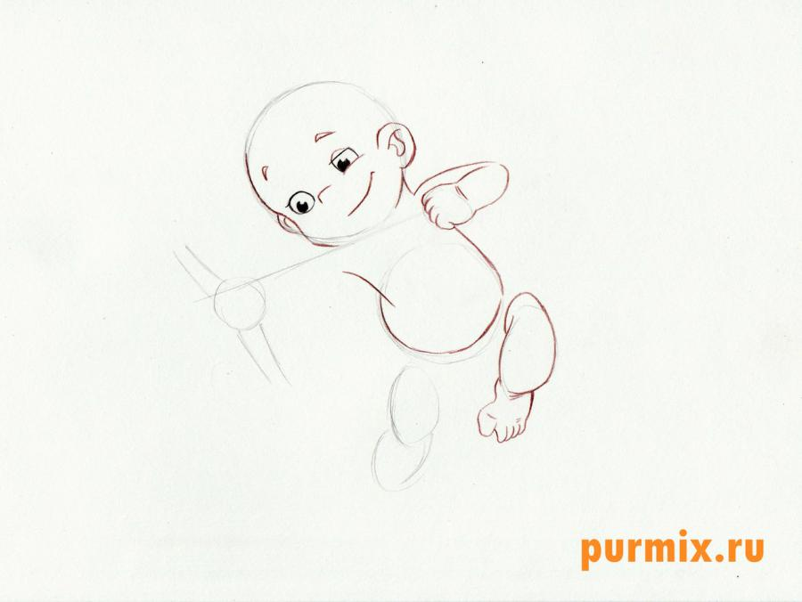 Рисуем Амура (Купидона) карандашами - шаг 3