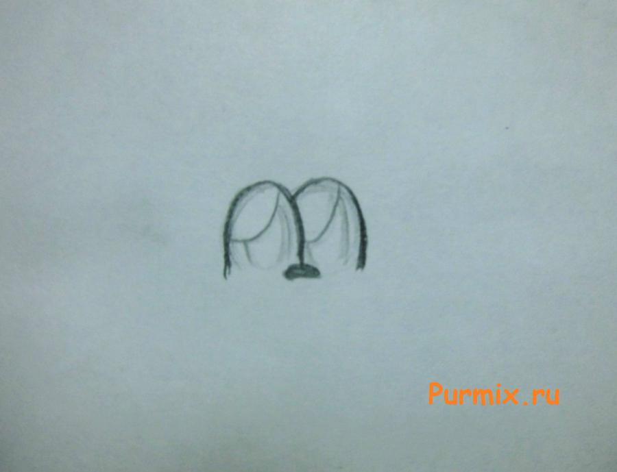 Рисуем милого мишку на день Св. Валентин - шаг 1