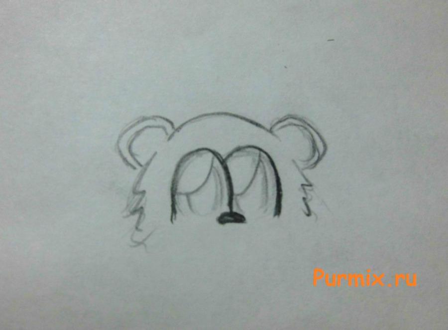 Рисуем милого мишку на день Св. Валентин - шаг 2