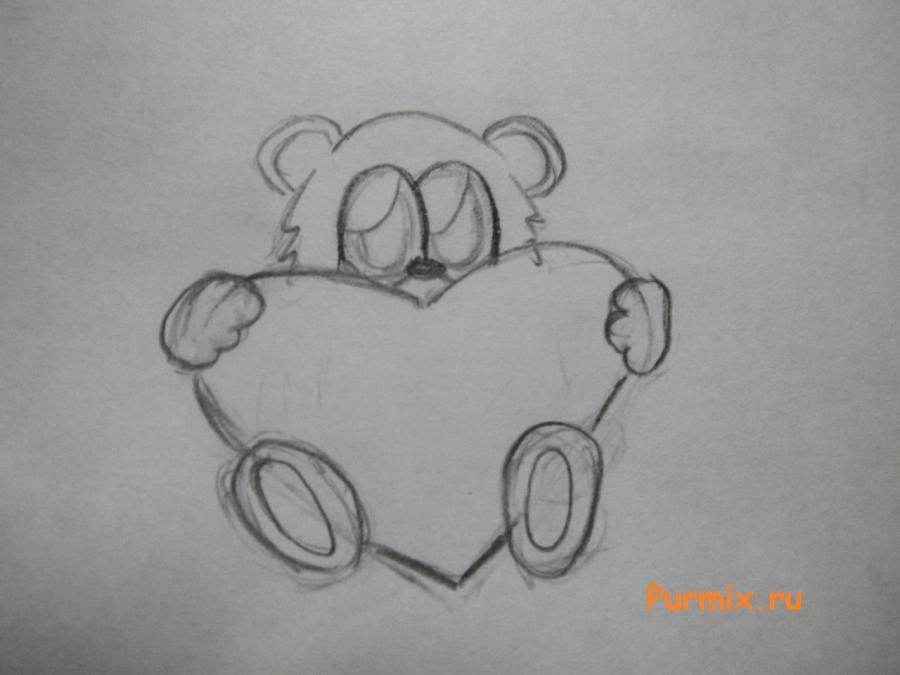 Рисуем милого мишку на день Св. Валентин - шаг 4