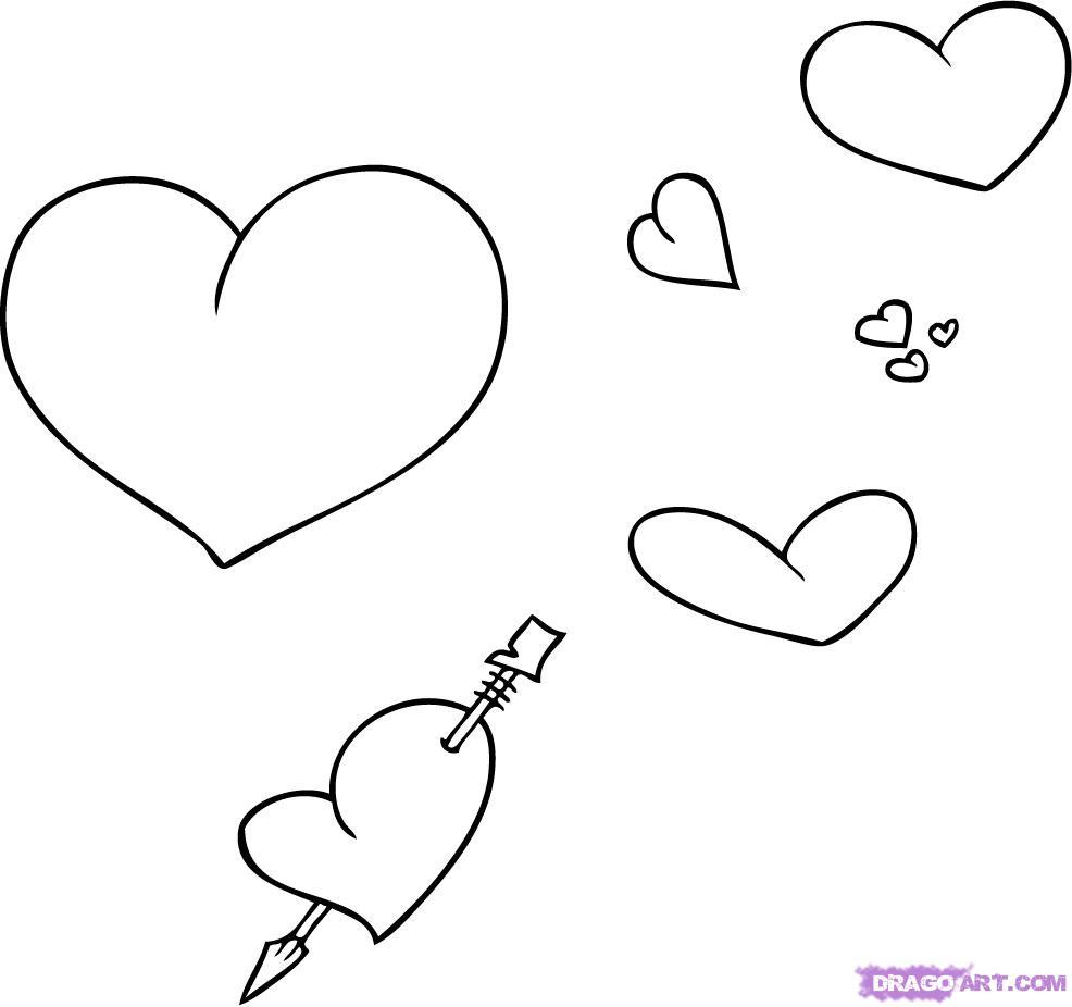 картинки сердечки срисовать таком