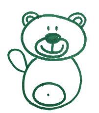 Как легко и просто нарисовать мишку ребенку - шаг 7