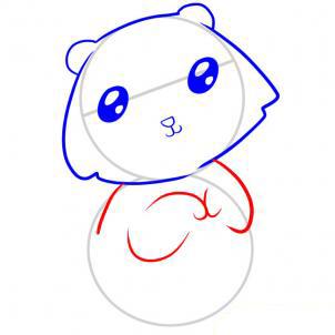 Рисуем медведя   для детей - шаг 4