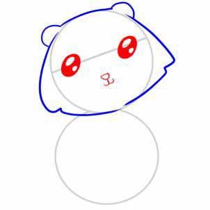 Рисуем медведя   для детей - шаг 3