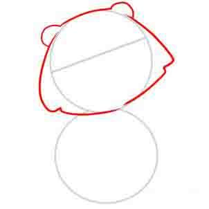 Рисуем медведя   для детей - шаг 2
