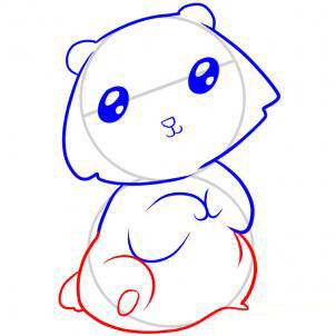 Рисуем медведя   для детей - шаг 5