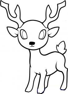 Рисуем оленя  для детей - шаг 8
